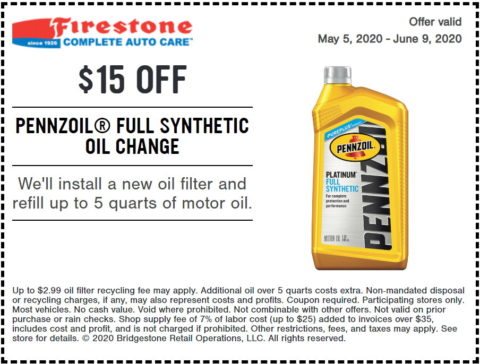 Firestone Full Synthetic Oil Change-Coupon